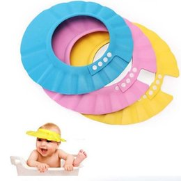 Wholesale Hot Colors Safe Shampoo Shower Bath Protection Soft Caps Baby Hats For Kids years New