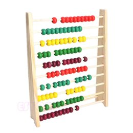Wholesale Colorful Beads Wooden Abacus Counting Number Kid Math Learning Teaching Toy