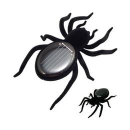 Araignées noires à vendre-Nouveauté Toys New High Quality Solar Power 8 jambes Black Crazy Spider Jouet d'enfants Toy d'énergie solaire