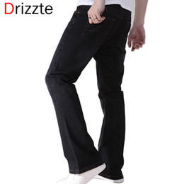 Wholesale Drizzte Mens Black Blue Boot Cut Jeans Plus Size to Big Denim Jean Flare Bell Bottom Flare Pants Trousers For Men
