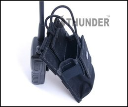 Outdoor Tactical Military 1000D Nylon Waterproof Thunder Interphone Bag Intercom Pouch Talkie And Walkie Molle Case dropship