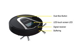 Wholesale Free to USA Eworld Intelligent Smart Automatic Robotic Vacuum Cleaner Everyday Dust Removal Powerful Suction Black
