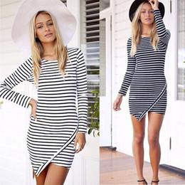 New Fashion Slim Hip Bodycon Dresses Casual Women Work Wear Strip Dress Plus Size