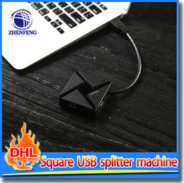 Wholesale USB Port Type C Interface Square Design USB Splitter Machine For Apple Computer Advertising Promotion