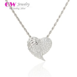 Wholesale necklaces Angel Wings Pendant fit silver jewelry necklaces for women No90 PETY002
