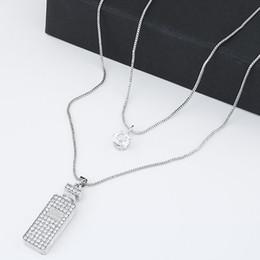 Fashion Korean Multi layer Long Necklace Jewelry For Women Bijoux Double Layer Star Snow white Cubic Necklaces & Pendants Colar