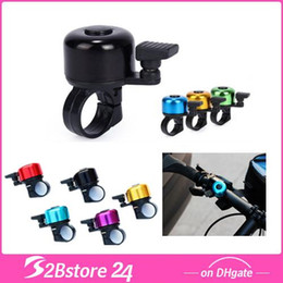 Wholesale Alloy Mini Bicycle Bell Bike Horns Mini Colorful Bike Bicycle Sports Duet Bell Cycling Ring Bell Horn Free DHL