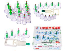 Wholesale SHUANGJIN Vacuum Suction Cupping Set Cups Magnetic Parts Thicker Version Cupping Set cupping vacuum massage