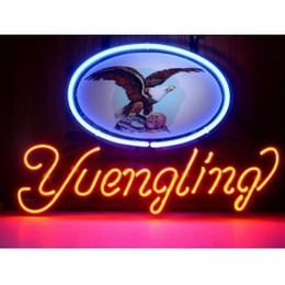 Wholesale NEON EAGLE YUENGLING LOGO SIGN HANDICRAFT REAL GLASS TUBE BEER BAR LIGHT GAME ROOM SHOP x15 quot