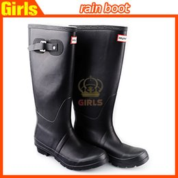 Wholesale 2015 New Women Fashion Rubber Rain boots Woman Knee High Waterproof Wellies Rain boots Water Shoes High Quality boots