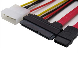 SATA 7pin to SATA 7+15 7+15 Pin to SATA 7Pin Adaptor CD-ROM attached data power cable C06S3 Free Shipping