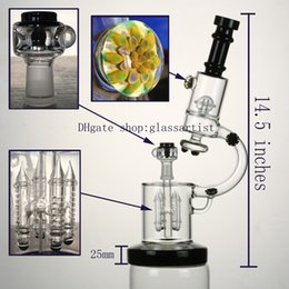 Wholesale High quality black glass bong inches weight g mm joint arm perc oil rigs microscope bong