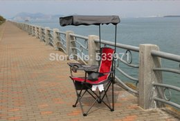Wholesale Portable Folding Backpack Beach Chair With Sunshade Outdoor Foldable Canopy Fishing Chair Folding Awning Chair for Fishing