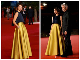Grace Red Carpet Dresses 2016 Two Pieces Evening Gowns Formal Celebrity Dresses Satin Skirts Floor Length Long Robe De Soiree Custom Made