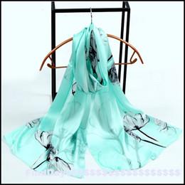 Wholesale Silk Satin Gift Boxes - 100% silk [elegant flowers] silk satin series digital printing scarf with gift box Ms.