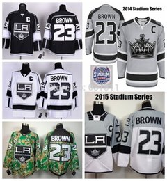 Factory Outlet, 2015 Los Angeles Kings Hockey Jerseys #23 Dustin Brown Jersey 2014 Stadium Series Home LA Dustin Brown Stitched Jerseys C Pa