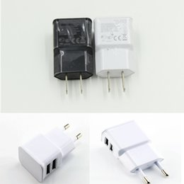 US EU Plug Dual Port USB Wall Charger for SAMSUNG 7100 Smart Mobile Phone Real 2A Charger 100pcs lot Free Shipping