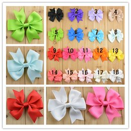 Wholesale 90pcs clothing hair accessories swallow tailed Ribbon handmade bows baby bowknots Diy accessories for headwear
