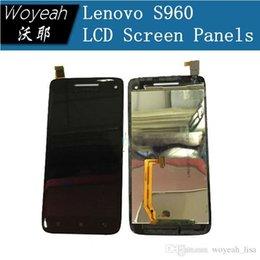 Quad lcd à vendre-Lenovo S960 Ecran LCD avec écran tactile Panneau de verre pour VIBE X MTK6589T Quad core Android Smartphone Livraison gratuite en stock