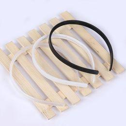 10mm DIY plastic headband, teeth, headwear accessories 100pcs(White Black)
