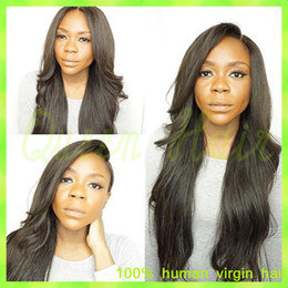 2015 New Lace Front Wigs Full Lace Human Hair Wigs Natural Straight Brazilian Hair Full Lace Human Hair Wigs For Black Women