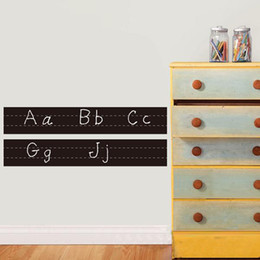 Vinyl Alphabet Cursive Handwriting Chalkboard Worksheets Wall Decal Stickers Ideal To Teach The Alphabet And Writing D224