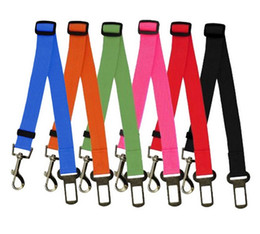 Wholesale Colorful Cat Dog Car Safety Seat Belt Harness Adjustable Pet Puppy Pup Hound Vehicle Seatbelt Lead Leash for Dogs