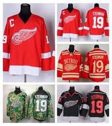 2016 New, Cheap Men's Ice Hockey 19 Steve Yzerman Jersey Detroit Red Wings Throwback Jerseys