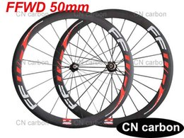 FFWD 50mm Clincher  Tubular carbon road bike wheels carbon racing bicycle wheelset Novatec hub + aero spokes