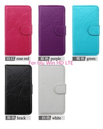 Wholesale Leather Flip Case with fashion line design stand function soft inside For blu dash J D070U advance inch Win HD LTE