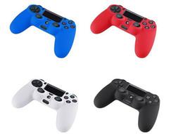 Promotion contrôleur ps4 couvercle du boîtier Soft Silicone gel caoutchouc cas Skin Grip Cover pour SONY Playstation 4 PS4 Controller DHL gratuitement