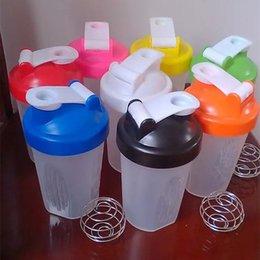 Wholesale 14OZ Protein Shaker Bottles BPA Free Sports Water Bottles Fashion Creative Health Drinkware Plastic Blender Bottle