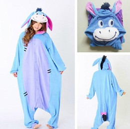 Wholesale Fashion Christmas Halloween Costumes Pajamas All in One Pyjama Animal suits Cosplay Adult Flannel Eeyore Donkey Cartoon Onesies