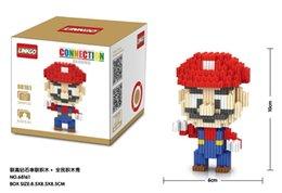 Wholesale LINKGO series connection style cm box Mario louis ect types cartoon figures diamond blocks Children s educational building blocks