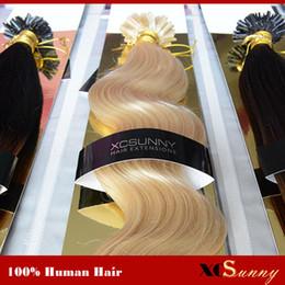 "XCSUNNY 18"" 20"" 100g Keratin Nail U Tip Hair Keratin Hair Extensions 1g s Brazilian Virgin Hair Keratin Nail Extensions"