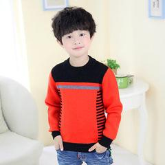 Wholesale-Boys Color Sweater 2016 new winter sweater boy spell color thick yellow long-sleeved pullover sweater Boys Color Sweaters