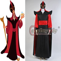 Wholesale Custom Made Adult Men s Aladdin Jafar Villain Costume Outfit Halloween Cosplay Costume high quality factory direct sale