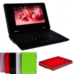 Wholesale Android4 VIA8880 Inch learning machine Netbook Build In Camera HDD mb GB WIFI b g USB G Dongle laptops XB07