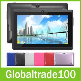 Wholesale Best inch Tablet PC Android Computers A33 Quad Core Touch Screen Dual Camera Wifi MB GB Colors Q88 Tablets