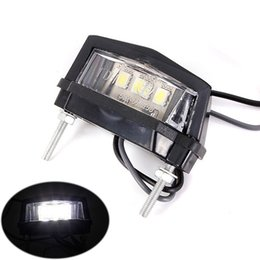 Wholesale 2pcs Motorcycle Scooter ATV Pik Dirt Bike Car LED Number Plate License Light E marked