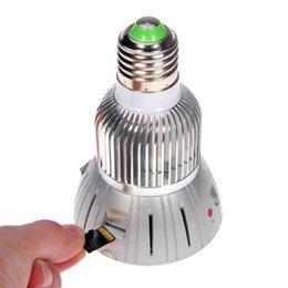 Wifi LED Light Lampe cachée Lampe Caméra HD 1080P Caméscope Surveillance Caméra vidéo Caméra Wifi Cam CCTV Caméra Argent led lighting video promotion à partir de conduit vidéo d'éclairage fournisseurs