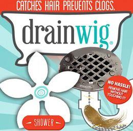 Wholesale USA DrainWig Shower Drain Hair Catcher in a Blister Universal Hygienic Bathroom Kitchen Sink Bath