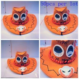Wholesale 50pcs cute cartoon leagure of legend LOL anime ACE orange cowboy Hats Cartoon Cosplay hat as gift