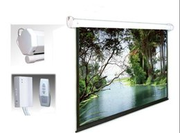 Wholesale Cynthia Lowest Price High Quality D K HD Fabric Automatic Electric Projection Screen With RF IR Remote Control