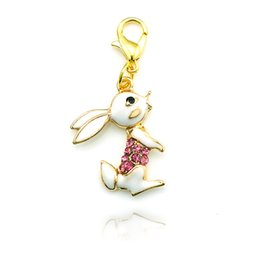 Wholesale Valentines Gift Fashion Floating Charm Alloy Lobster Clasp Golden Cute Rabbit Charms DIY Jewelry