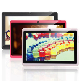 Wholesale Ship from USA IRULU Inch Allwinner A33 Quadcore Tablet PC GB Android HD Q88 Wifi MID A33 Tablets