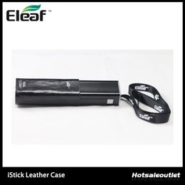 Wholesale Ismoka eleaf istick Leather Case Carry Cases With Ego Lanyard Ring For iStick W W Authentic Bag