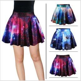 Wholesale 52 COLORS New Fashion Galaxy Digital Print Sheer Organza Mini Lolita Tutu Skirt BatmanTulle Retro High Waisted Skirts LJJA1054
