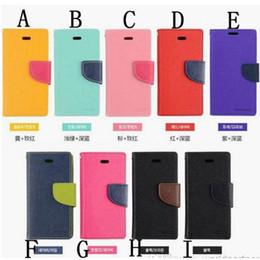 Mercury carte slot Folio cas pour iPhone 6 S6 Flip portefeuille couverture avec Retail Box PU cuir pour Apple 4 5 5C Samsung S3 S4 S5 S6 Note 3 4 supplier mercury case s4 à partir de mercure cas s4 fournisseurs