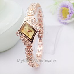 Wholesale factory supplier New Arrival Fashion Luxury Watches RoseGold Crystal Quartz Rhinestone Date Lady Women Wrist Watch